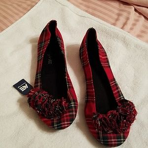 AMERICAN EAGLE SHOES, WOMEN'S, SIZE 8  NEW, PLAID